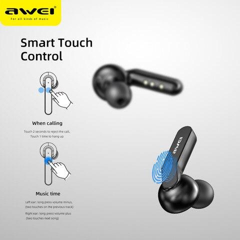 Fone de Ouvido AWEI T10C TWS Bluetooth