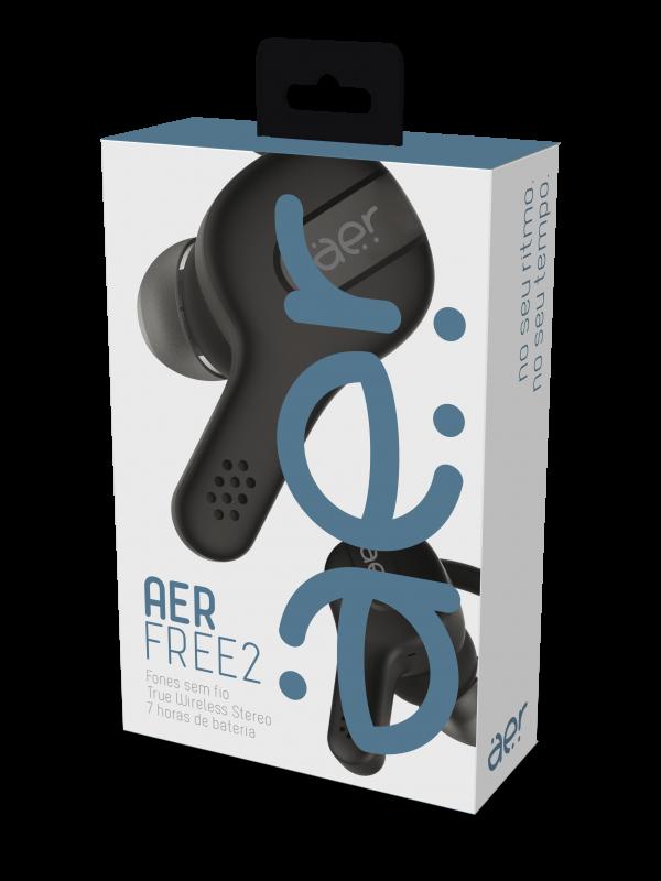 Fone de Ouvido Bluetooth Geonav Aer Free 2 - com Microfone Preto
