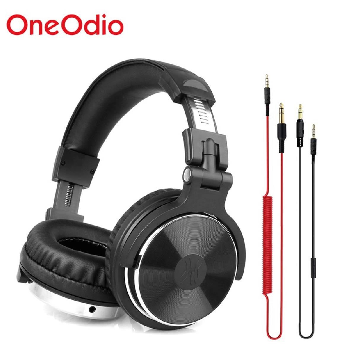 Fone De Ouvido Dj Studio Oneodio Pro-10  Profissional Super Bass  Preto