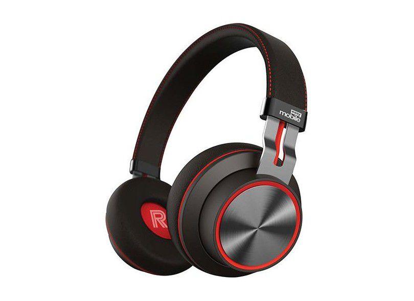 Freedom 2 - Fone de Ouvido Bluetooth On Ear - Easy Mobile - Preto-Vermelho