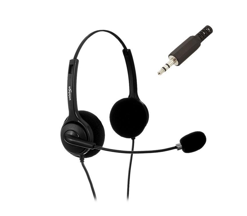 Fone de Ouvido Headset Hn202 Duple Flex Plug P2 - Unixtron