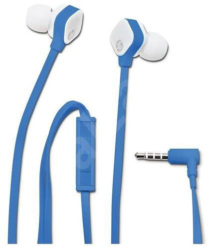 HP H2310 Fone de Ouvido intra com controlador de volume - Azul/Branco