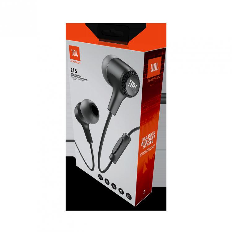JBL E15 Fone de Ouvido com microfone e controle de volume - Preto