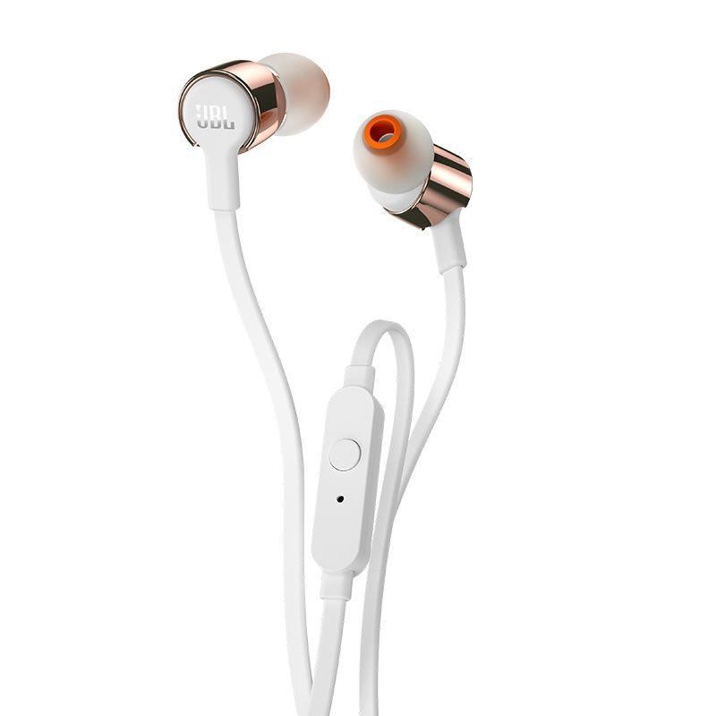 JBL T210 Fone de Ouvido com microfone - in ear - Branco/Rosa