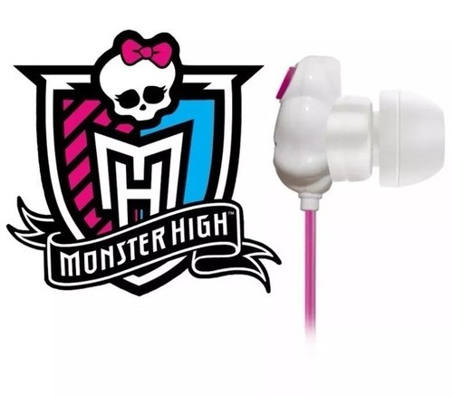 Fone de ouvido Multilaser Monster High Skull PH106