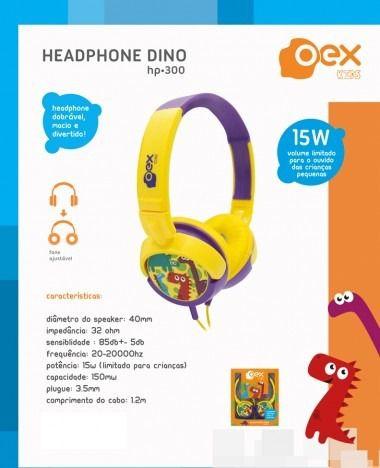 Fone De Ouvido  Oex Hp300 Amarelo