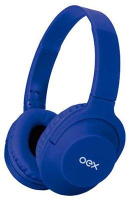 Fone De Ouvido Oex HS207 Flow com cabo removível -  Azul