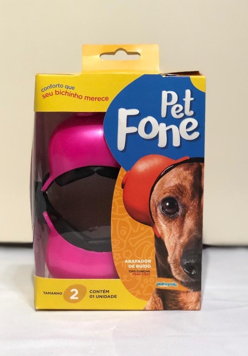 Fone De Ouvido Para Cachorro - Tamanho 2 rosa