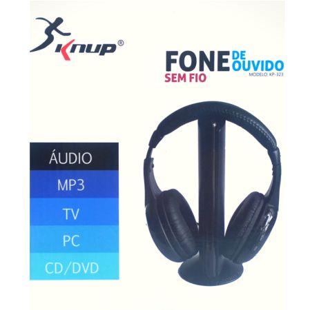 Fone de Ouvido Sem Fio 5 em 1 Knup KP-323