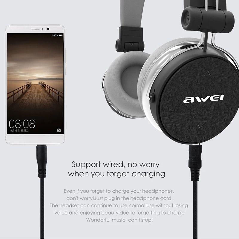 Fone De Ouvido Sem Fio Bluetooth Awei A700bl