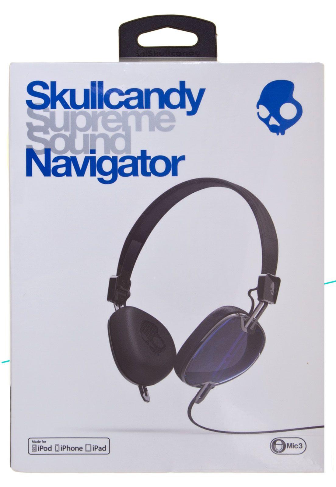 Fone de ouvido Skullcandy Navigator S5AVFM 289 Azul é na Foneland