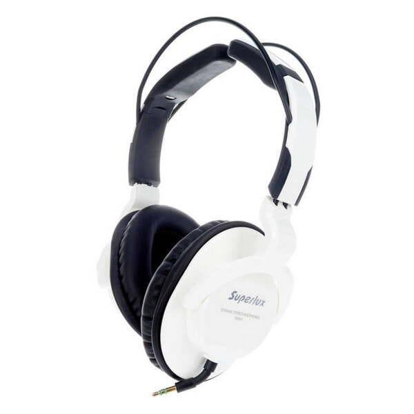Fone de Ouvido Superlux HD661 Auscultadores Circumaural Fechados Branco