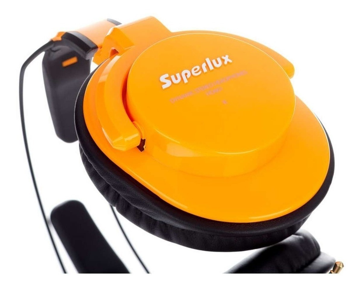Fone de Ouvido Superlux HD661 Auscultadores Circumaural Fechados - Laranja