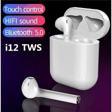 Fone de ouvido TWS  Touch i12 sem fio Bluetooth 5.0