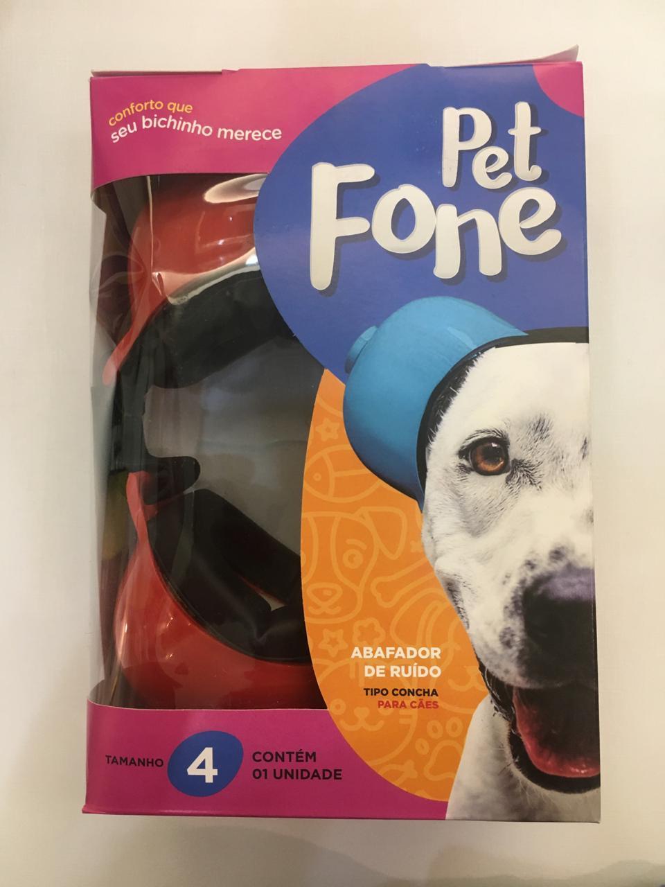 Fone De Ouvido Para Cachorro - Tamanho 4 rosa
