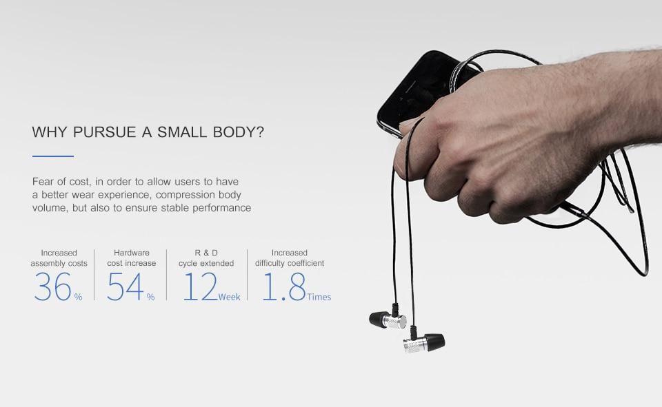Fones de ouvido intra-auriculares estéreo Awei ES660i