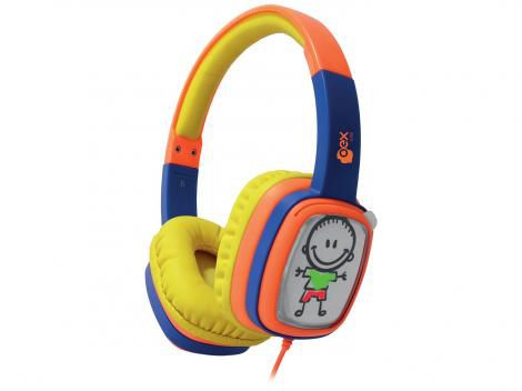 Headphone Cartoon OEX Hp 302 Laranja Azul