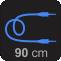 Tamanho do Cabo: 90 cm
