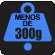 PESO: Menos de 300g