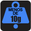 PESO: Menos de 10g