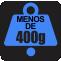 PESO: Menos de 400g