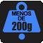 PESO: Menos de 200g
