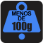 PESO: Menos de 100g