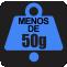 PESO: Menos de 50g