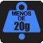 PESO: Menos de 20g