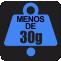 PESO: Menos de 30g