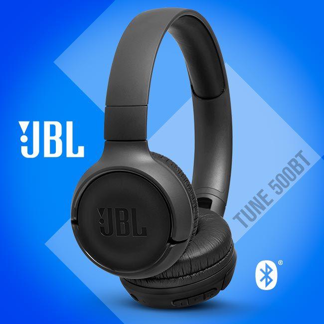 JBL TUNE 500BT - Fone de ouvido Bluetooth On Ear - Preto