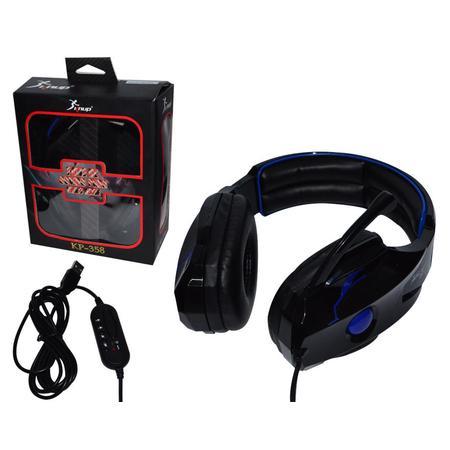 KNUP KP-359 Headset GAMER com microfone - preto