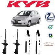 4 AMORTECEDORES HONDA FIT 2003 2004 2005 2006 2007 2008 KAYABA