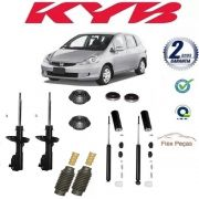 4 AMORTECEDORES HONDA FIT 2003 2004 2005 2006 2007 2008 KAYABA + KITS