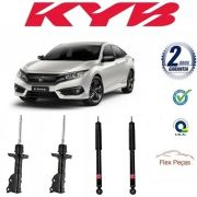 4 AMORTECEDORES HONDA NEW CIVIC 2006 2007 2008 2009 2010 2011 KAYABA