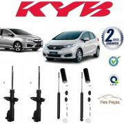 4 AMORTECEDORES HONDA NEW FIT / CITY 2009 2010 2011 2012 2013 2014 KAYABA