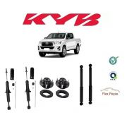 4 AMORTECEDORES TOYOTA HILUX PICK-UP 2005 2006 2007 2008 2009 2010 2011 2012 2013 2014 2015 2016 C/ KITS