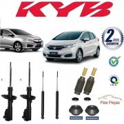 KIT 4 AMORTECEDORES C/ KITS HONDA FIT CITY 2015 2016 2017 2018 ORIGINAL
