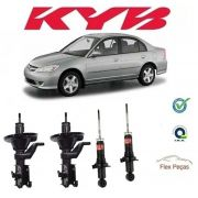 KIT 4 AMORTECEDORES HONDA CIVIC 2001 2002 HASTE FINA