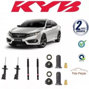 KIT 4 AMORTECEDORES HONDA NEW CIVIC 2006 2007 2008 2009 2010 2011 + KITS