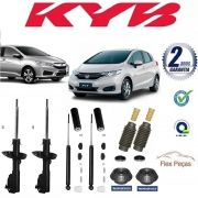 KIT 4 AMORTECEDORES + KITS HONDA FIT 2009 2010 2011 2012 2013 2014