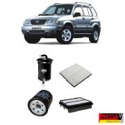 KIT FILTROS CHEVROLET TRACKER 2.0 2001 2002 2003 2004 2005 2006 2007 2008 2009