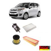 KIT FILTROS CITROEN AIRCROSS 1.6 2010 2011 2012 2013 2014 2015 2016 2017 2018 2019, C3 PICASSO 1.6 2012 2013 2014 2015
