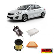KIT FILTROS CITROEN C4 LOUNGE 2.0 16v 2014 2015 2016 2017 2018 2019