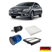 KIT FILTROS HONDA CIVIC 1.8 / 2.0 2012 2013 2014 2015