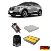 KIT FILTROS NISSAN KICKS 1.6 2016 2017 2018 2019 2020