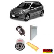KIT FILTROS NISSAN MARCH 1.0 2011 2012 2013 2014