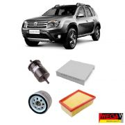 KIT FILTROS RENAULT DUSTER 1.6 / 2.0 2011 2012 2013 2014