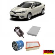 KIT FILTROS RENAULT FLUENCE 2.0 2011 2012 2013 2014 2015 2016 2017 2018 2019