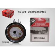 KS104 - KIT TENSOR E CORREIA GATES GOL, SAVEIRO, VOYAGE, FOX, CROSSFOX, SPACEFOX, KOMBI